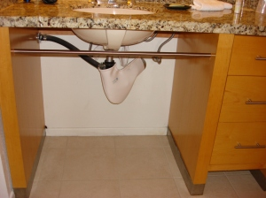 Wheel-Under Sink in the Kitchen
