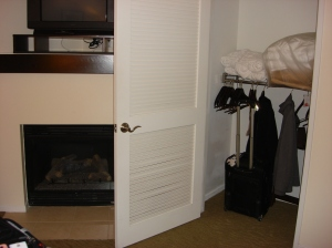 Closet in Bedroom with Lowered Railing