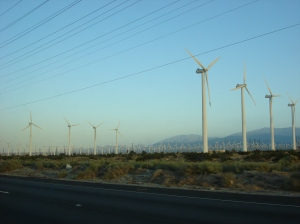 Wind Turbines All Along Highway