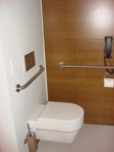 Toilet with Grab Bars