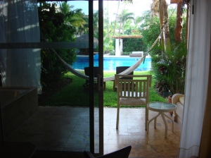 View of Patio in Swim-Up Room