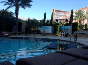 One of The Palazzo Pools closest to the Azure Lounge