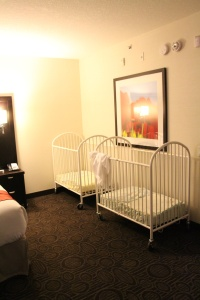 Cribs Provided by Hotel