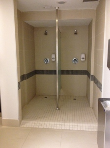 Showers in Pool Change Room