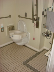 Toilet in Accessible Room on Norwegian Epic