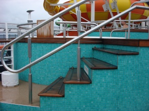 Access Into Other Hot Tubs Was Via Stairs