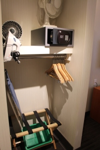 Extra Fans Were Provided in the Closet, Along with In-Room Safe, Iron, Ironing Board and Hangars