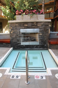 Second Hot Tub Facing Outdoor Fireplace