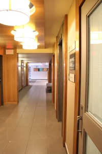 Hallway Facing Lobby, Elevator on the Right to Go Downstairs to the Breakfast Room