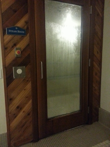 Door to Steam Room