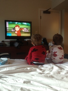 Our Two Little Monkeys Enjoying Curious George