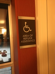 Area of Refuge Assistance Sign at Every Exit Stairwell
