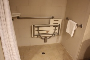Wheel-In-Shower With Shower Bench