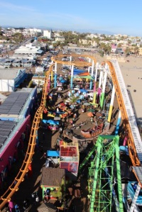 Santa Monica Pier - View From the Top of the Ferris Wheel