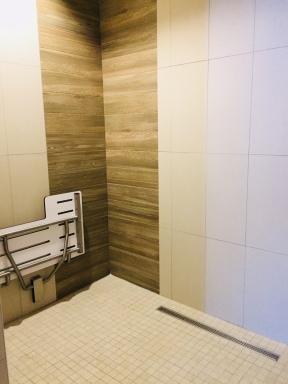Wheel-In Shower